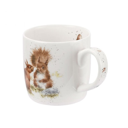 Royal Worcester Wrendale 'Between Friends' Squirrel Fine Bone China Mug