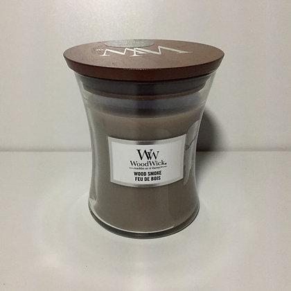 Woodwick Medium Candle - Wood Smoke