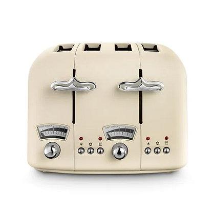 Delonghi Argento Flora Toaster - Jasmine Beige