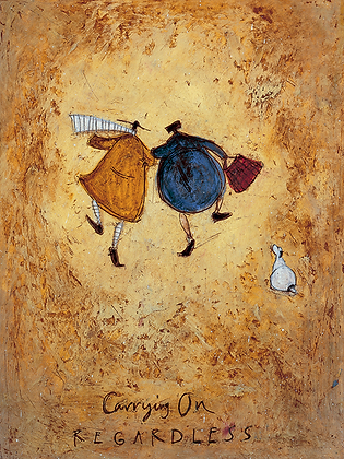 Canvas Art - Sam Toft 'Carrying on Regardless'