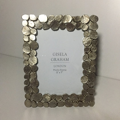 Gisela Graham Pewter Pebble Frame 5 x 7