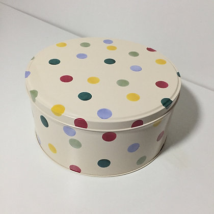 Elite Tins Emma Bridgewater Polka Dot Small Round Cake Tin