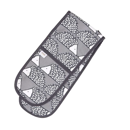 Scion Living Spike Double Oven Gloves - Grey Charcoal