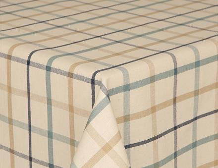 Prestons Mirha Collection Round Tablecloth - Tweed Blue Check