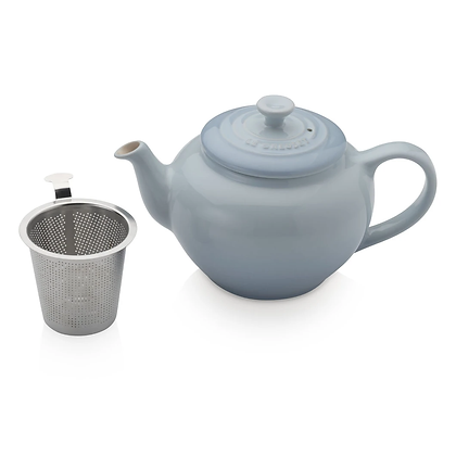 Le Creuset Stoneware Small Teapot with Infuser - Coastal Blue