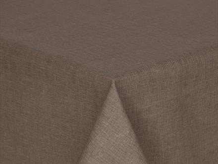 Prestons Loneta Collection Round Tablecloth - Grey Weave