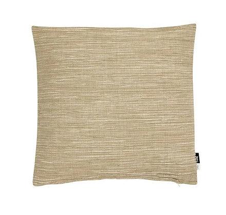 Malini Chambray Feather Cushion - Taupe