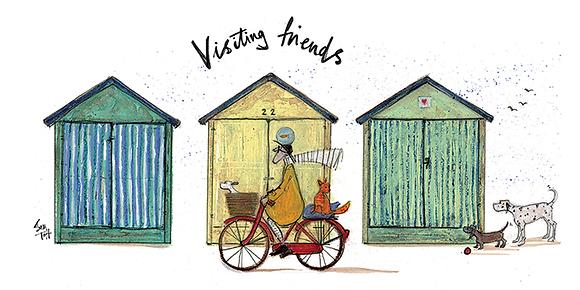 Canvas Art - Sam Toft 'Visiting Friends'