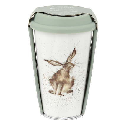 Royal Worcester Wrendale Designs Hare Travel Mug with Silicone Lid