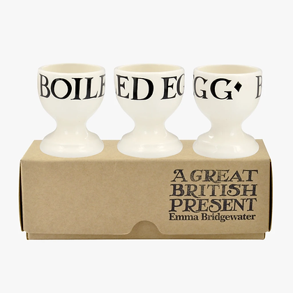 Emma Bridgewater Black Toast Set of 3 Egg Cups