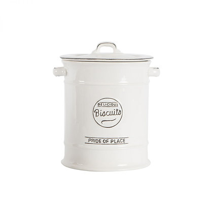 Pride Of Place Large Biscuit Jar White