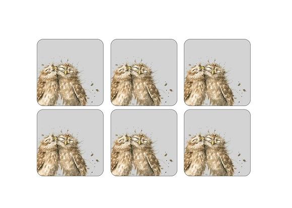 Pimpernel Wrendale Designs Set of 6 Owl Coasters