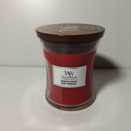 Woodwick Medium Candle - Crimson Berries