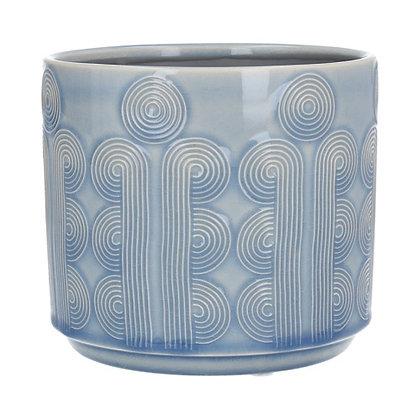 Gisela Graham Sky Blue Circles Small Pot Cover