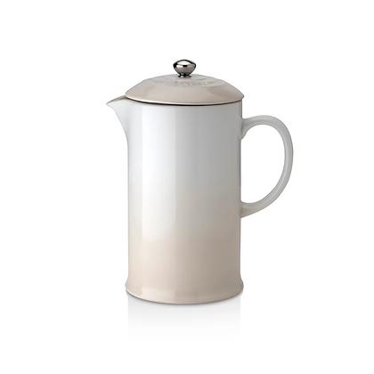 Le Creuset Stoneware Coffee Pot and Press - Meringue