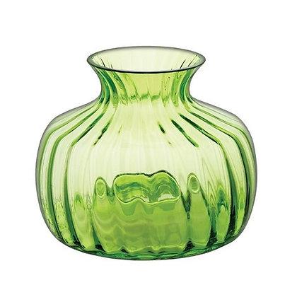 Dartington Crystal Medium Cushion Vase - Lime
