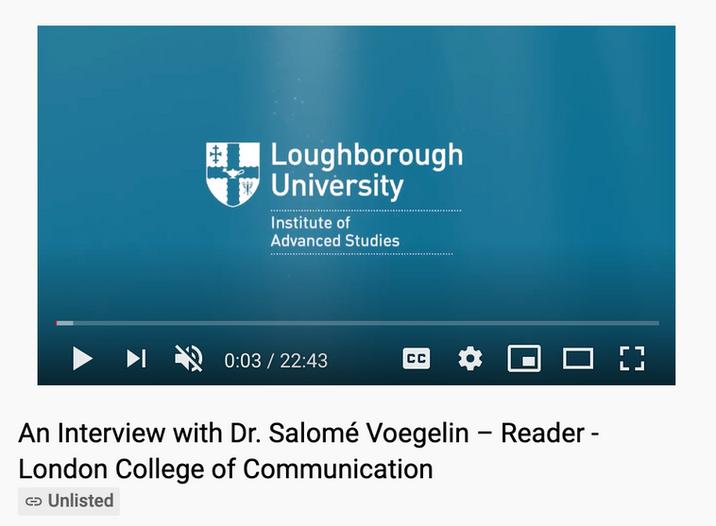 Loughborough University: Research Fellow Interview