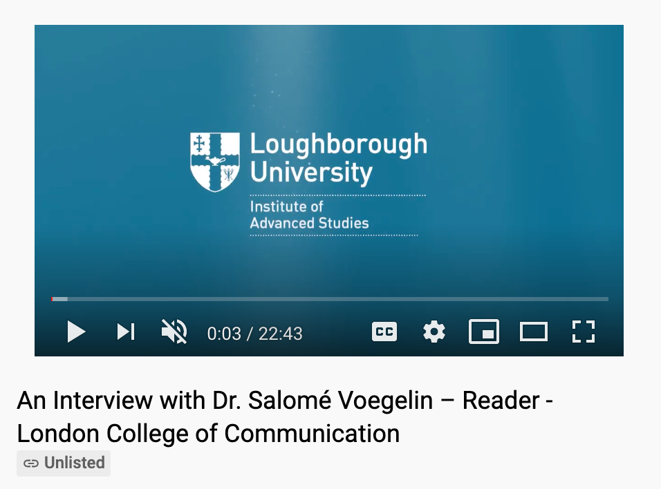 Loughborough University: Research Fellow Interview