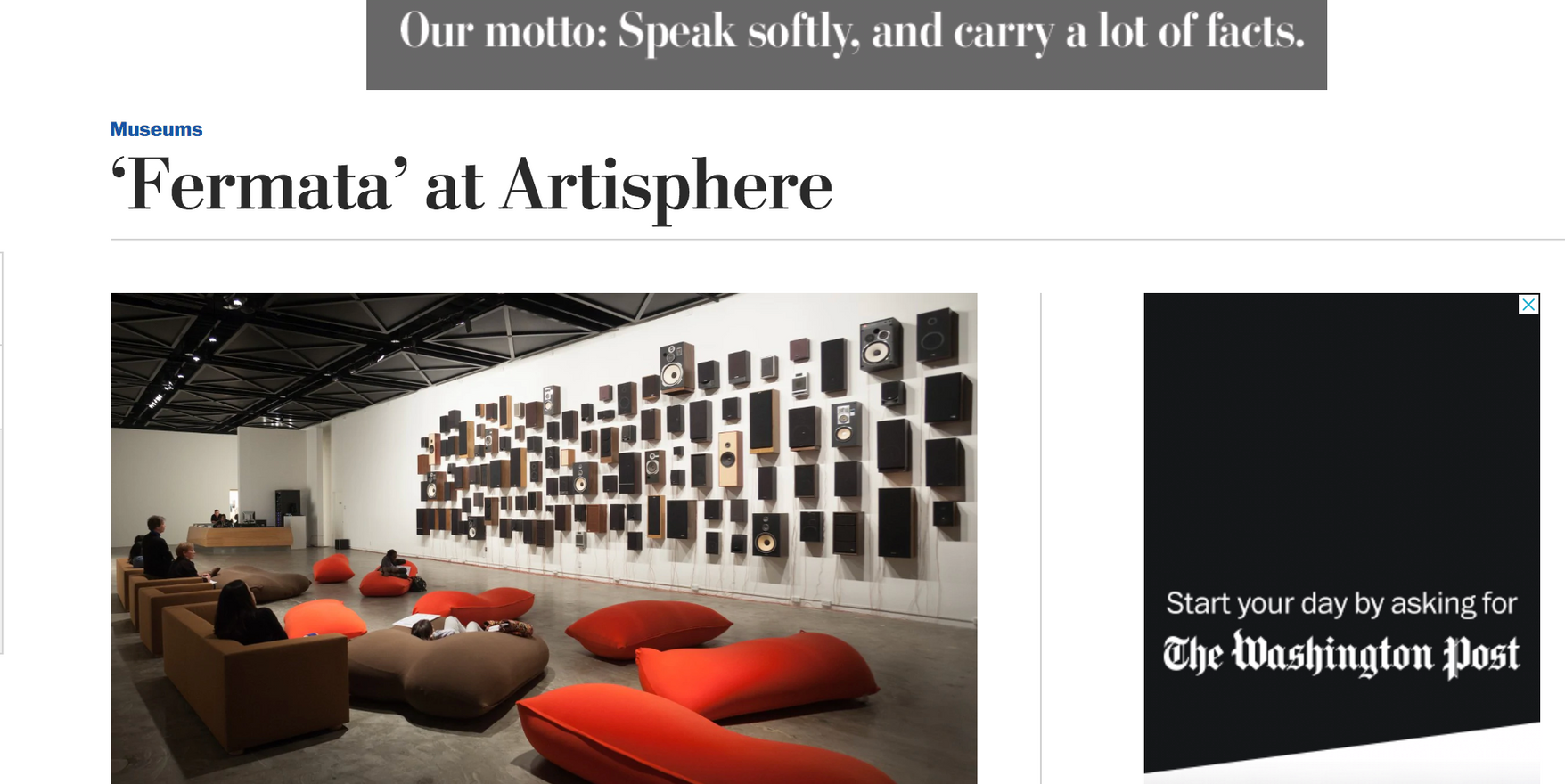 Washinton Post: 'Fermata' at Artisphere