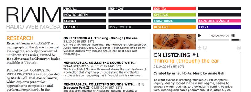 Radio Web Macba: ON LISTENING #1