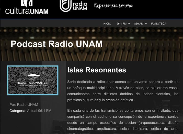 Radio UNAM: Islas Resonantes