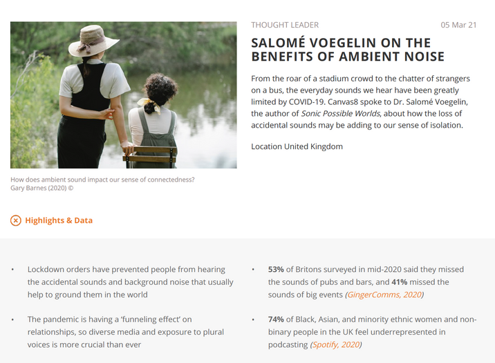 The Benefits of Ambient Noise