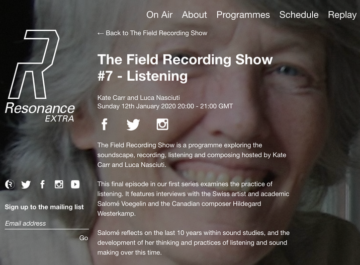 Resonance FM: The Field Recording Show