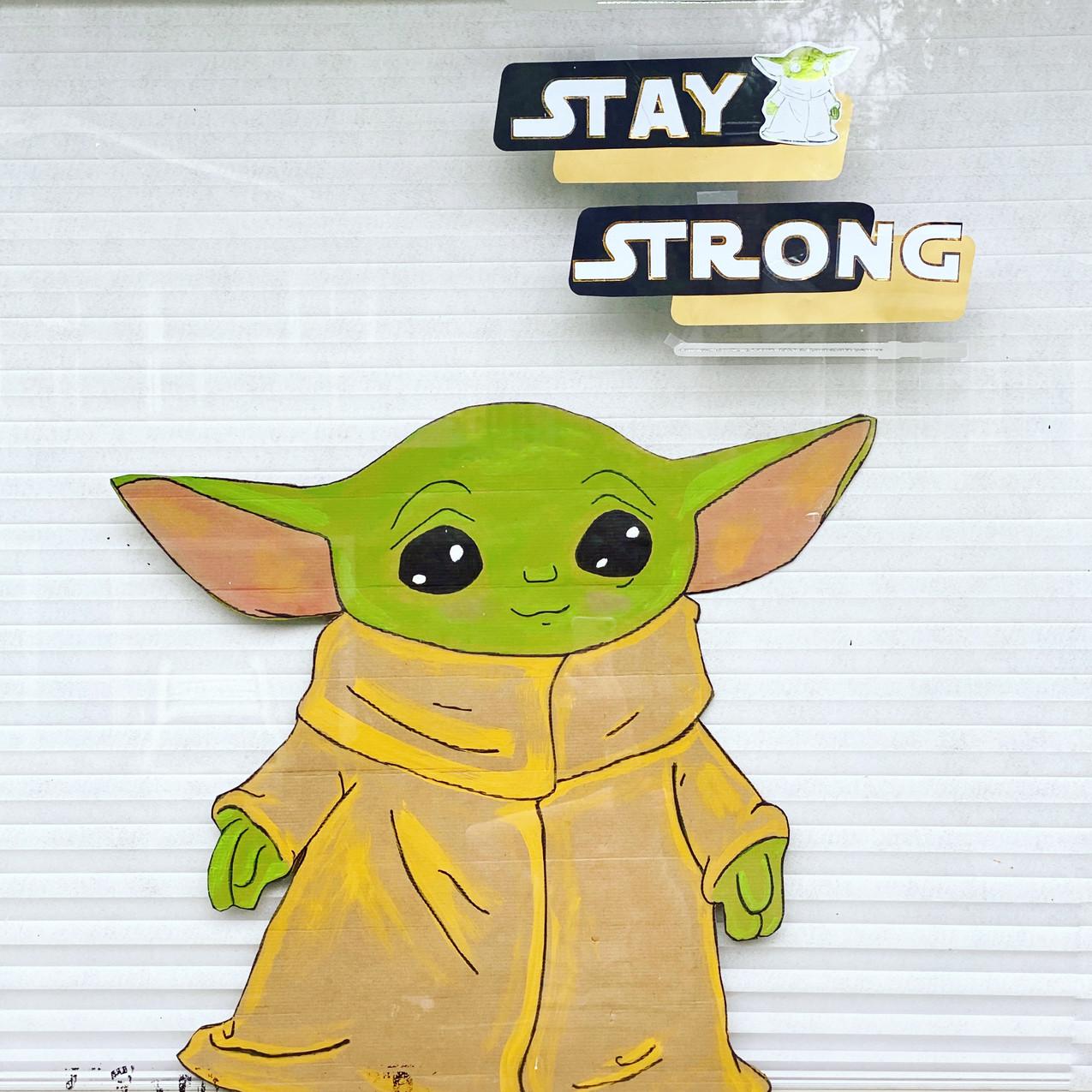Yoda Window Art
