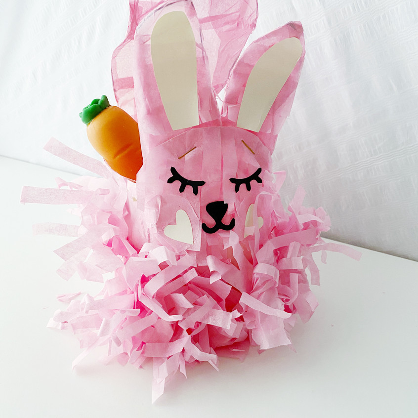 Bunny with tissue paper