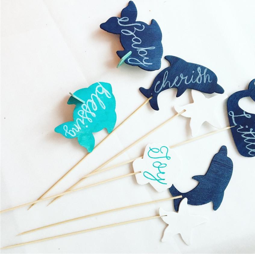 Calligraphy Sea Creatures