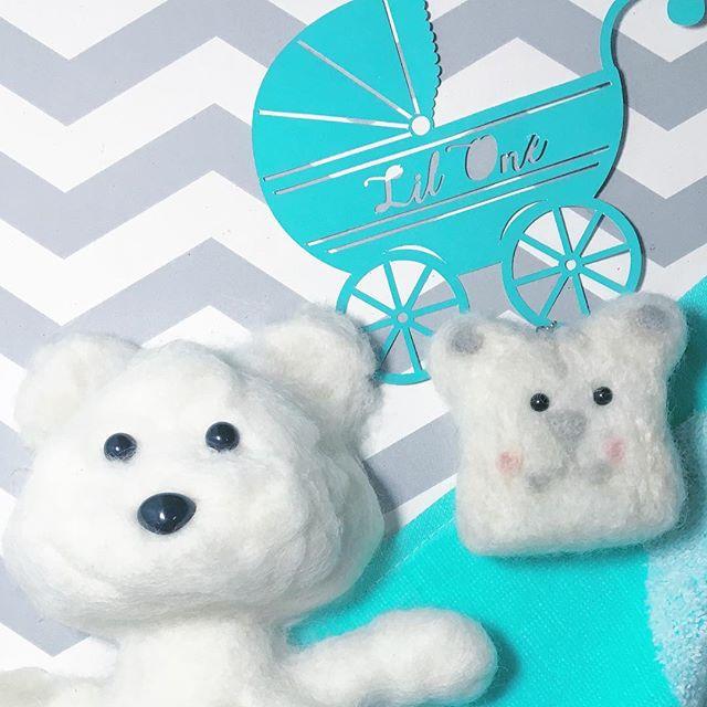 Close-up of the felt bear 😍 . . . Yay, mini felt bear video up! . . .  on Jazzy's Creation & Design YouTube Channel