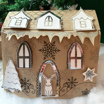 Gingerbread Cardboard House
