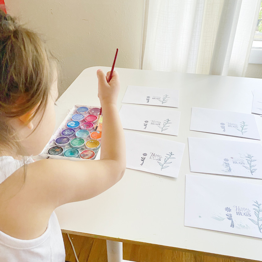 Toddler Painting Cards