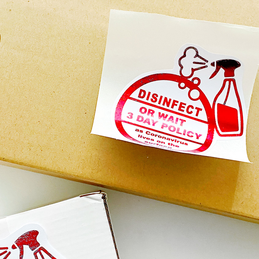 Disinfect Labels