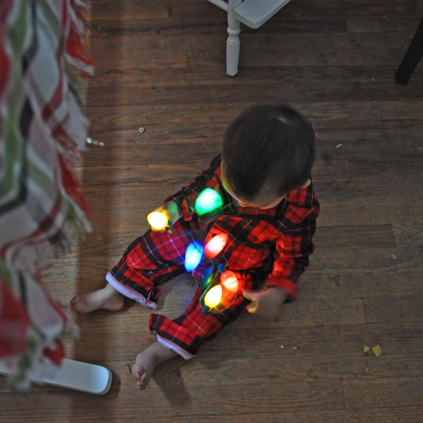 Putting lights