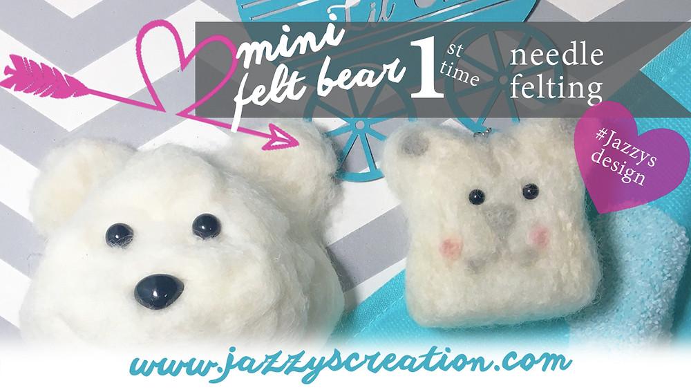 Mini felt bear video