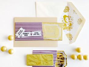Willy Wonka Chocolate Card