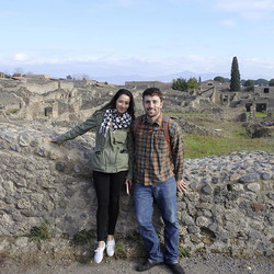 Here we are at the ancient Roman ruins, #pompeii #italy #beautiful city 😍😍