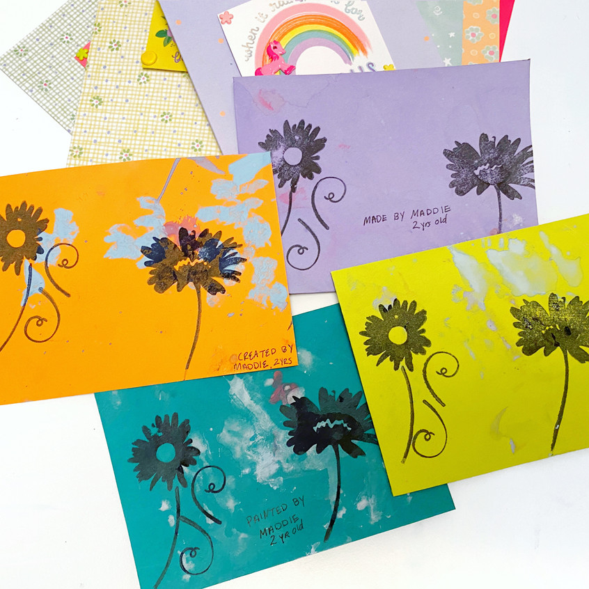 More Hand-painted Envelopes