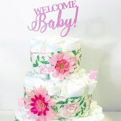Welcome Baby- Cake Topper