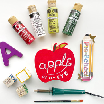 DIY Back to School (Apple of my Eyes)