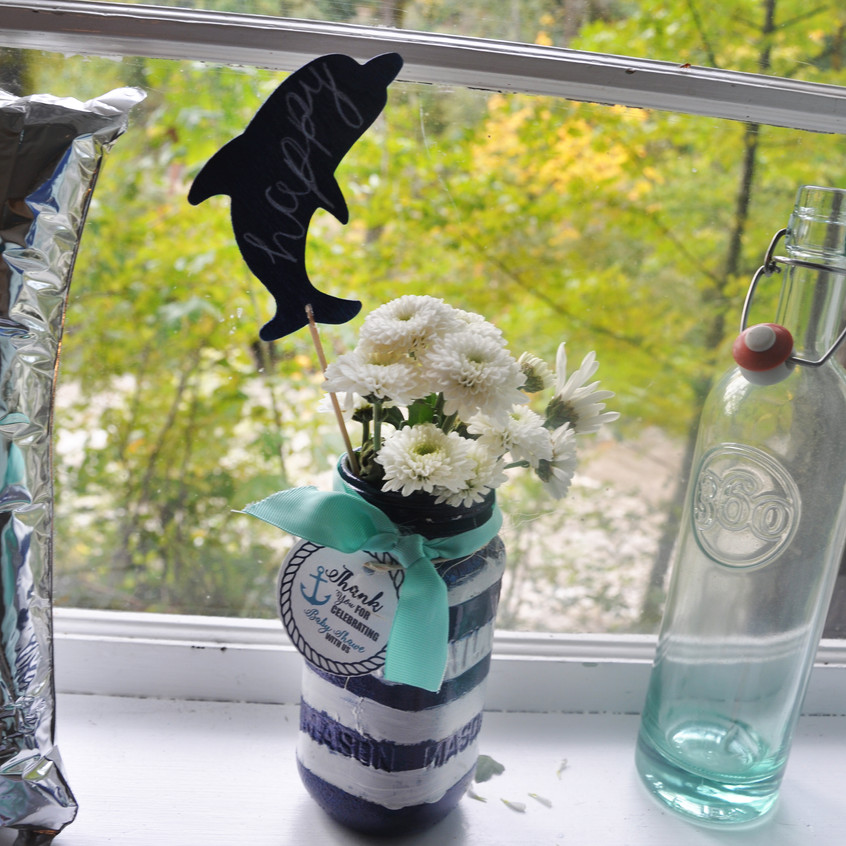 Flower Vase Sea Creature Sign