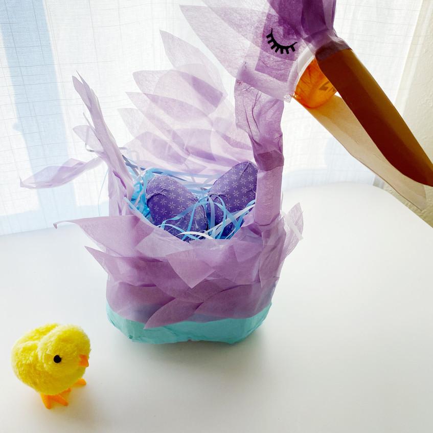 Bird with tissue paper