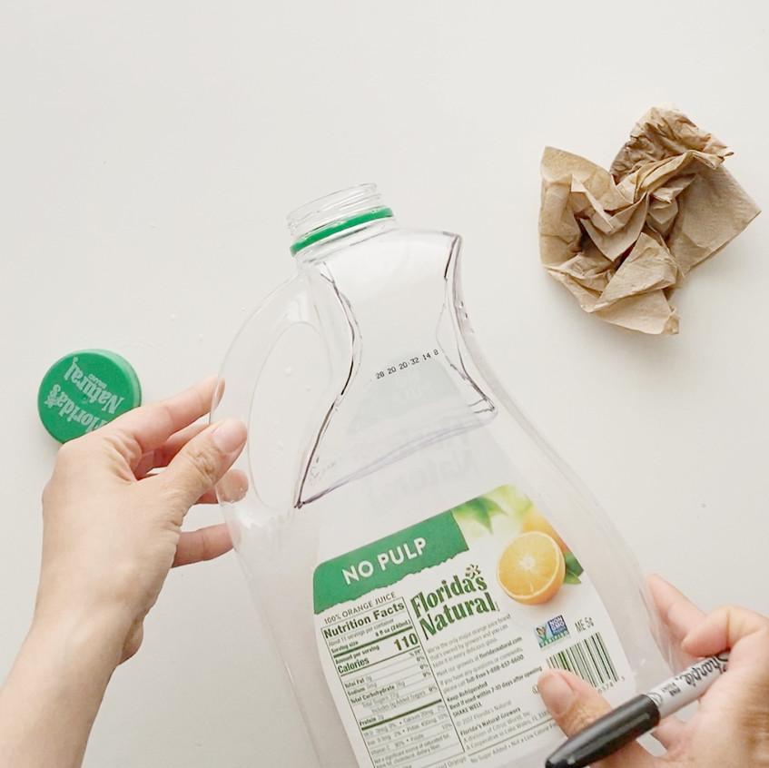Outline & Cut your jug