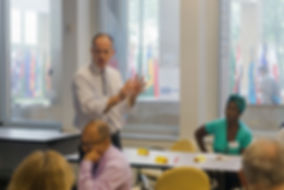 Steve leads a faculty development session for math faculty at the New York City College of Technology and Borough of Manhattan Community College. Both are campuses of The City University of New York.