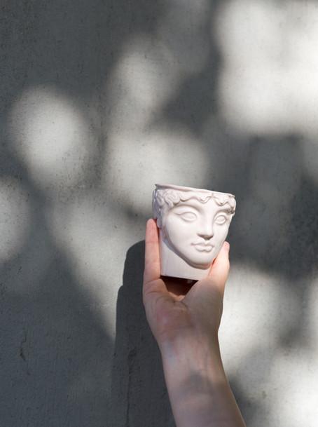 """""""Youth"""" ceramic head  photo by Hannakaisa Pekkala"""