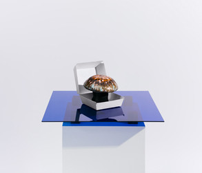 Mushroom sculpture  Photo Kimmo Metsäranta Style Anne Törnroos Agency Callan & Co Client Wolt Design & Helsinki Design Week