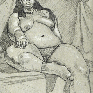 Woman with Socks