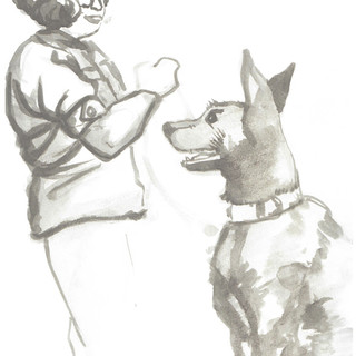 Soldier and Dog 1