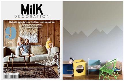 Small-Design i MILK Decoration, børnemøbler, kube, børnestol